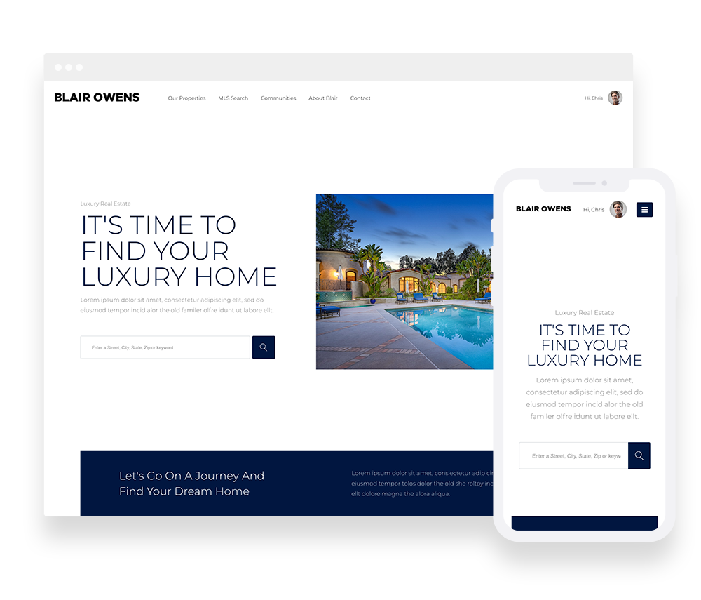 Elementor Prebuilt IDX Website Design 1