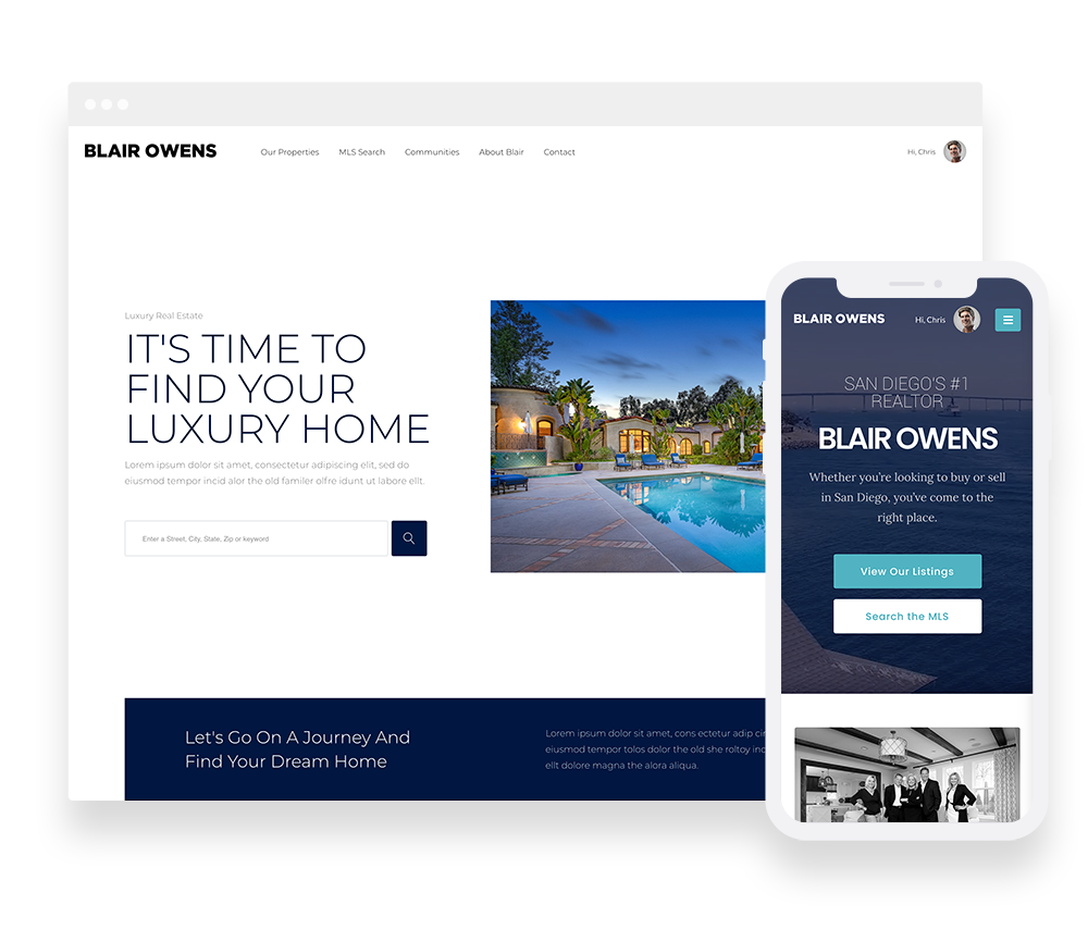 With our IDX Hosted service you get a full turnkey, personalized IDX website, cloud-hosted, and connected to your local MLS. This includes your branding integration, a semi-custom homepage based on the design of your choice, four basic interior content pages, and a host of lead-generating features and tools.